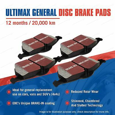 4Pcs Front EBC Ultimax Brake Pads For BMW 1 Series F20 116I 1.6T 100KW