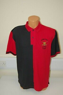 AUCTION: Armed Forces Veteran British Army embroidered Polo - Red/ Black 2XL