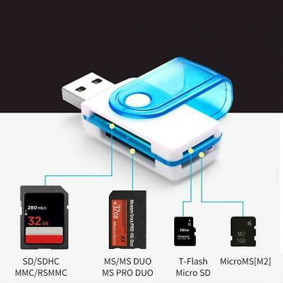 4 IN 1 Micro SD to USB Multi-Card Memory Card Adapter 128GB Reader Supports V2V5