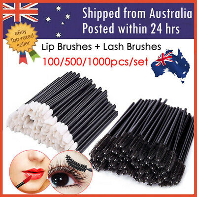 100-1000pcs  Disposable Lip Brush Lip Wands Gloss Lipstick Applicator Brushes AU