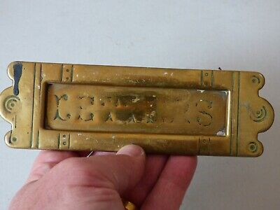 Collectable Architectural Solid Brass Door Knocker Mail Letter Slot #2 Free Uk P