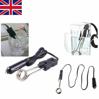 UK 12V Car Immersion Heater Water Soup Tea Coffee Baby Bottle Boiler Element