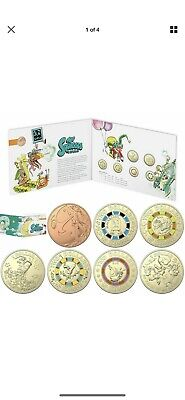 2019 Mr Squiggle And Friends Uncirculated Set Of 7 Coins In Folder