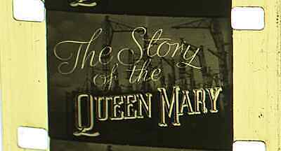 16mm B&W SILENT FILM - 1930's - MOVIETONE NEWS - 'STORY OF THE RMS QUEEN MARY'