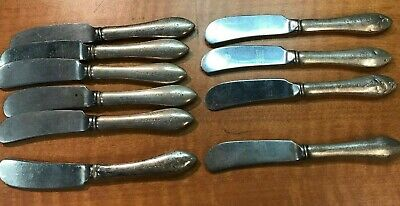 10 Pc  Reed & Barton STATE of TEXAS GOVERNOR Sterling Handled POLITICAL Knifes