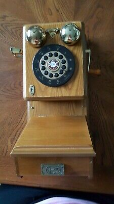 Vintage Old Fashion Spirit Of St. Louis Replica Wooden Wall Telephone no handset