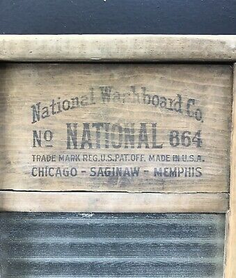 Vintage Washboard National Washboard Co No. 864 Glass Lingerie Washboard