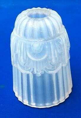 STYLISH 1920s ANTIQUE ART DECO OPALESCENT GLASS TABLE OR PENDANT LAMP SHADE