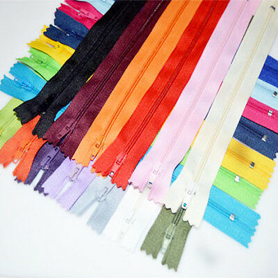 MIX 10pcs Nylon Coil Zippers Tailor Sewer Craft 9 Inch Crafter's DIY #*