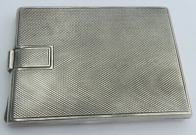 LOVELY ART DECO ENGLISH SILVER COMPACT  c.1941