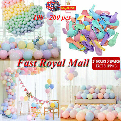 100/200X Macaron Candy Colored Balloons Pastel Latex Balloons 10 Inch Party Deco