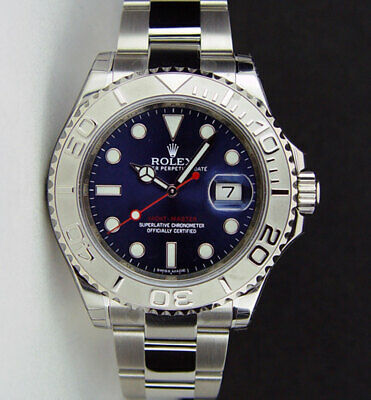 NEW Rolex Yachtmaster Platinum Blue Dial 40mm 116622 - WATCH CHEST
