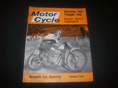 Zeitschrift ' The Motor Cycle ' Nr. 3123 18. Apr.1963 Bultaco Metralla-D.M.W.