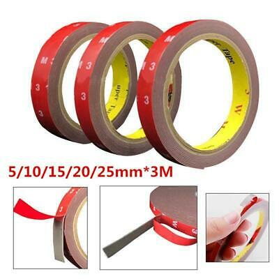 3M Multi Sizes Double Sided Clear Acrylic Foam Adhesive Tape Automotive Sticky