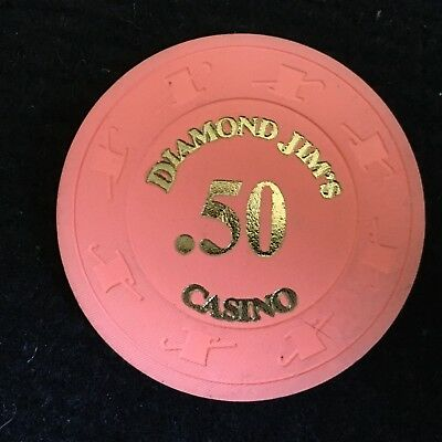 Diamond Jim's Casino - California - $.50 Casino Chip