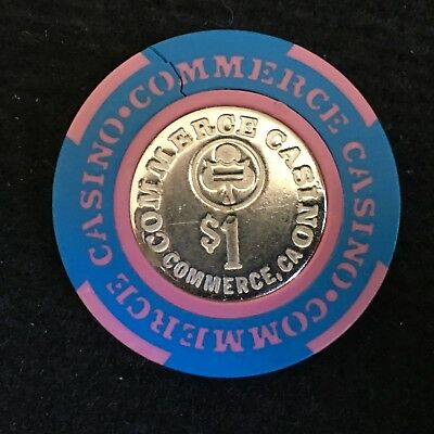 Commerce Casino - California $1 Casino Chip / CHIP IS CRACKED