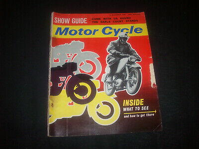 Zeitschrift ' The Motor Cycle ' Nr. 3100 8 Nov.1962 Earls Court-Anz.Ducati-BSA