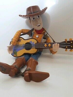 Toy Story Vintage Musical Disney Pixar Woody Doll with Guitar Songs D1