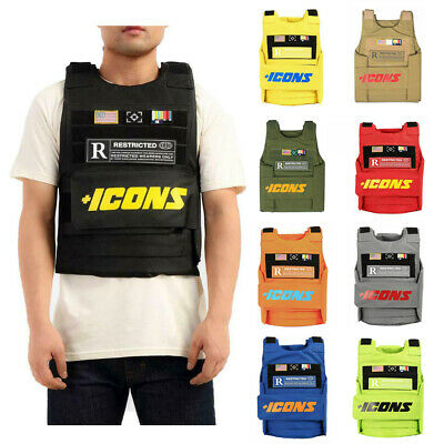Hudson Icons Vest Black Yellow Beige Red Orange Grey Royal Blue Neon Green