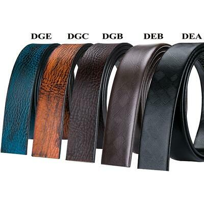 Mens Replacement Belts Real Leather 3.5cm Width Without Automatic Ratchet Buckle