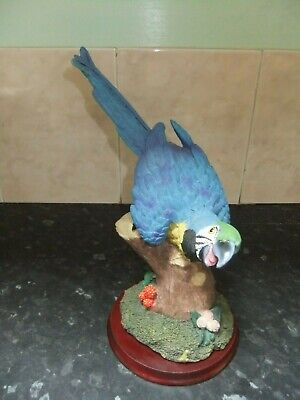 """Lovely Colourful Resin 10"""" Parrot Figurine"""