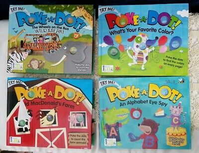 Poke-a-Dot: FOUR Books Old MacD Farm, Colors, And Alphabet(Out Of Print) Safari
