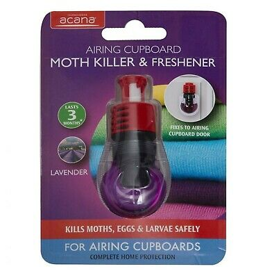3X Acana Airing Cupboard Moth Killer and Lavender Freshener from Caraselle Di...