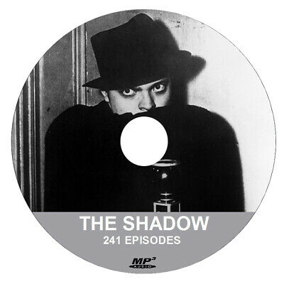 The Shadow  ( 1 X .MP3 DVD ) - 241 EPISODES + FREE SOFTWARE