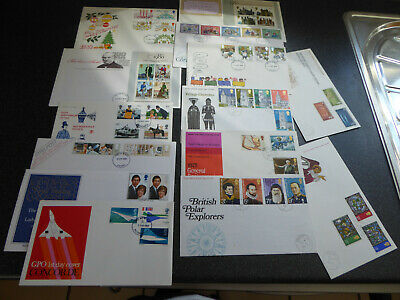 GB 1969 - 1980  First Day Royal Mail Covers Commemorative x 14 near mint