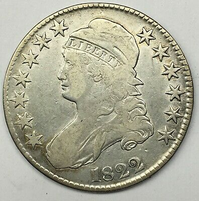 1822 50C Capped Bust Half Dollar F+/VF Very Fine (BR)