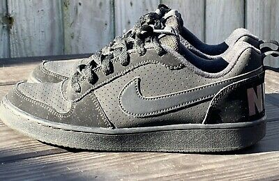 Nike Court Borough Low Casual Trainers Black Size Uk 6