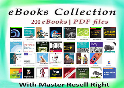 200+ eBooks Package Collection | Pdf Format | With Master Resell Rights