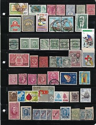 Worldwide 272 mint and used classic stamps and a cover