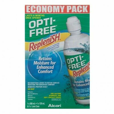 Opti-free RepleniSH Economy Pack 300ml + 120ml (REDUCED TO CLEAR)