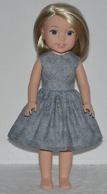 Gray Doll Dress Clothes Fits American Girl Wellie Wisher Dolls