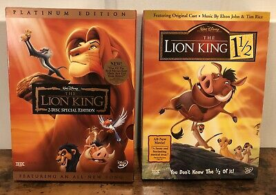 Disney The Lion King 1 & 1 1/2 (DVD 2003, 2-Disc Set, Platinum Edition) EUC