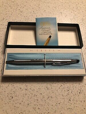 Vintage CROSS Century Chrome 3502 Classic Ball Point Pen New n Box W/Orig papers