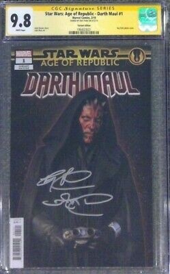 Star Wars: Age of Republic - Darth Maul #1__CGC 9.8 SS__Signed by Ray Park