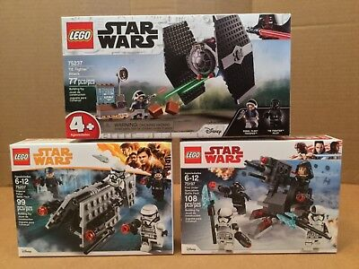 Lego Star Wars 75237 Tie Fighter Attack-75197 First Order Specialists-75207 Nib