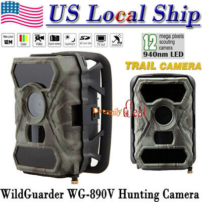 12MP 1080P HD Hunting Trail Game Camera WildGuarder WG-890V IR Farm Security
