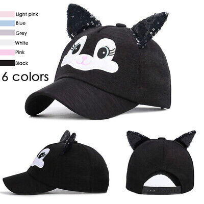 1Pc Cute Cotton Cat Ears 3-8 Years Old Kids Baby Cartoon Soft Sunscreen Sunshade