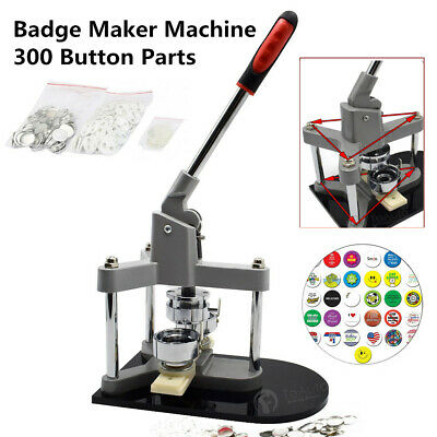 Button Maker Machine Badge Making Punch Press Aluminum Body For Creative Art Pin