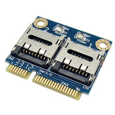 PCI-E To Dual Micro For Laptops Card Reader Mini Portable Adapter High Speed