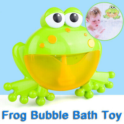 Frog Bubble Maker Automated Spout Bubble Machine Kids Bath Shower Fun Toy