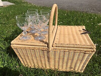 Picnic Basket Hamper, John Lewis, With Quality Glass And Plastic Glasses