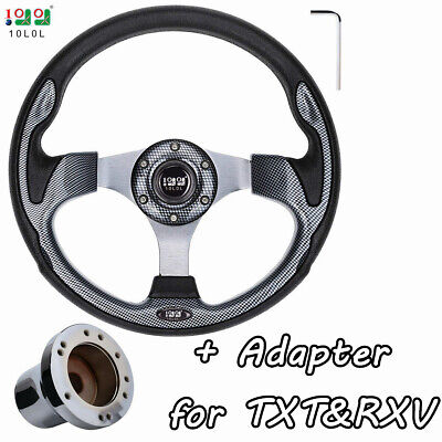 Generic Golf Cart Steering Wheel with Hub Adapter | Fit for EZGO TXT&RXV