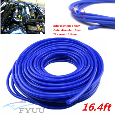 16.4ft 5 Meters Silicone Vacuum Tube Hose Silicon Tubing Silicon Blue Car Engine