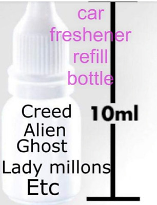 Designer Perfume Fragrance Car Air Freshener refill bottle 2 Pack £5.99