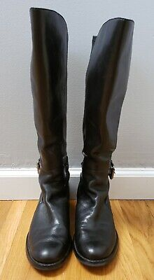 76a6368d52627 ETIENNE AIGNER E Vandalay Tall Riding Boots Tall Black Leather ...