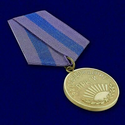 """USSR AWARD ORDER BADGE - """"For the Liberation of Prague"""" - Soviet Russia moulage"""